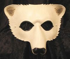 Polar Bear Leather Masks